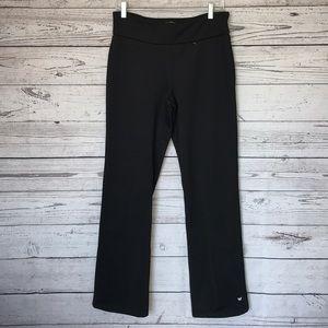 White Sierra Black Straight Leg Yoga Pants Med